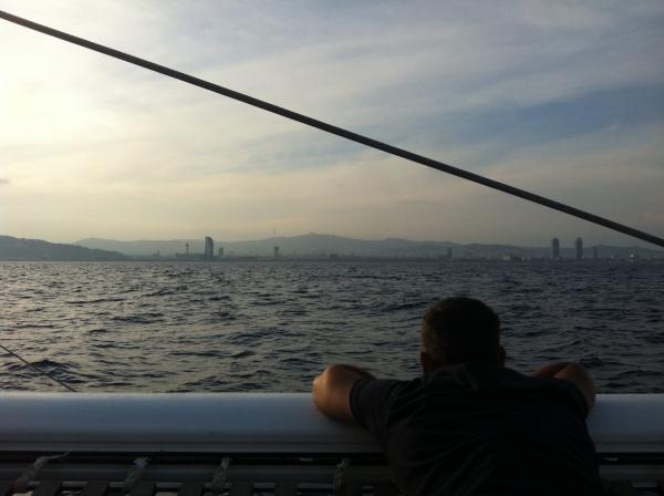 Barcelone vue de catamaran